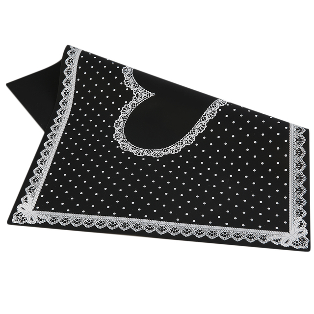 Silicon Lace Polka Dot Heart Pattern Nail Art Table Mat Pad Manicure ...