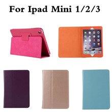 Flip PU Leather Case For ipad Mini 1 2 3 Cover Stand For Apple ipad Mini2 Mini3