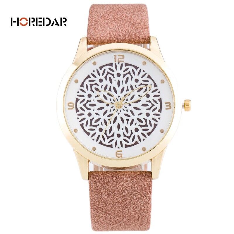 2017 Fashion Hollow Flower Pattern Quartz Watch Women Personality Hands Casual Wrist Watches Female Wristwatch Relogio