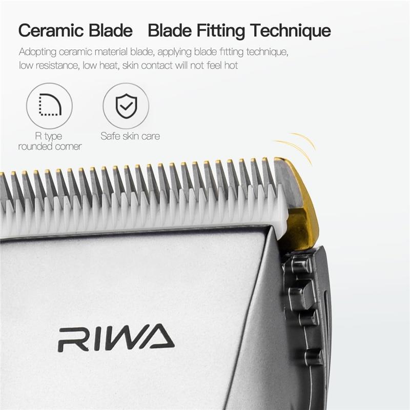 Image 5 - RIWA X9 Rechargeable Clipper Professional Hair Trimmer Men Haircut Hair Clipper Shaving Machine Razor Titanium Ceramic Blade-in Hair Trimmers from Home Appliances