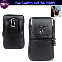 For LeEco LE S3 X522 Case Belt Clip Pouch Waist Purse Genuine Leather Case Cover For