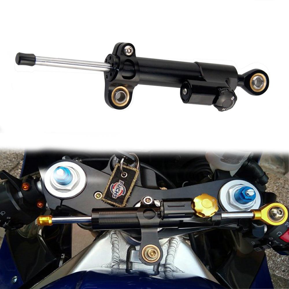 Duokon Aluminum Steering Damper Stabilizer Motorcycle Adjustable Steering Damper Linear Reversed Safety Control for Yamaha MT10 MT 07 MT09 Long Type