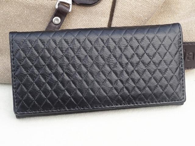 Pu dsmv women's square grid handbag wallet magnet clasp female long design embossed wallet boutique women's