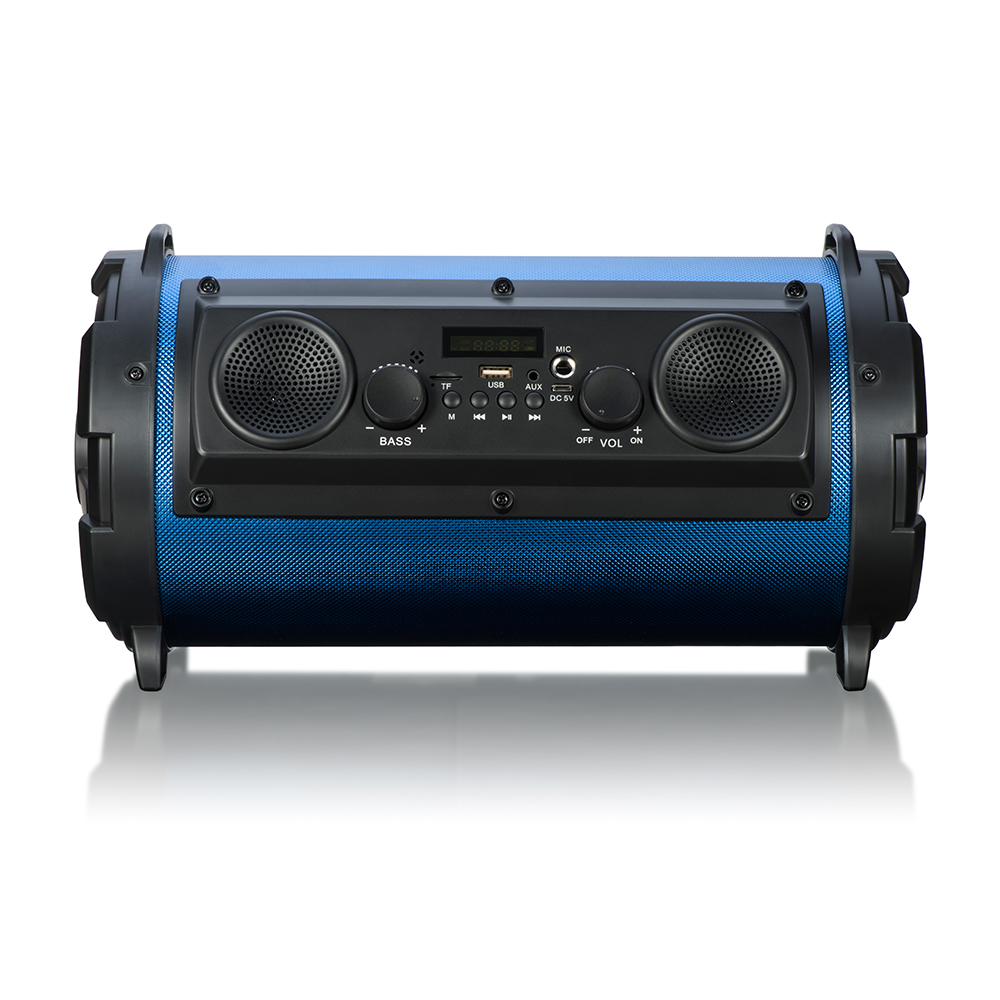 Cylinder Portable 15W Huge Power HiFi Wireless Bluetooth Speaker Woody Cool LED Light Stereo Super Bass Music Player - 3