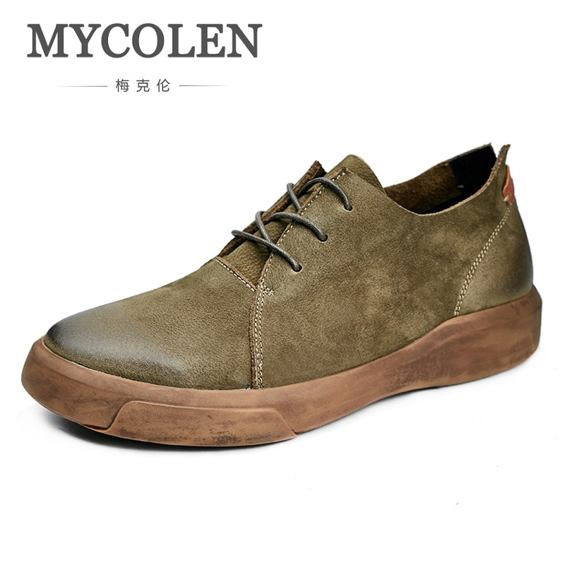 MYCOLEN/повседневная мужская обувь в британском стиле, винтажная классическая мужская обувь на толстой подошве, мужская обувь высокого качест