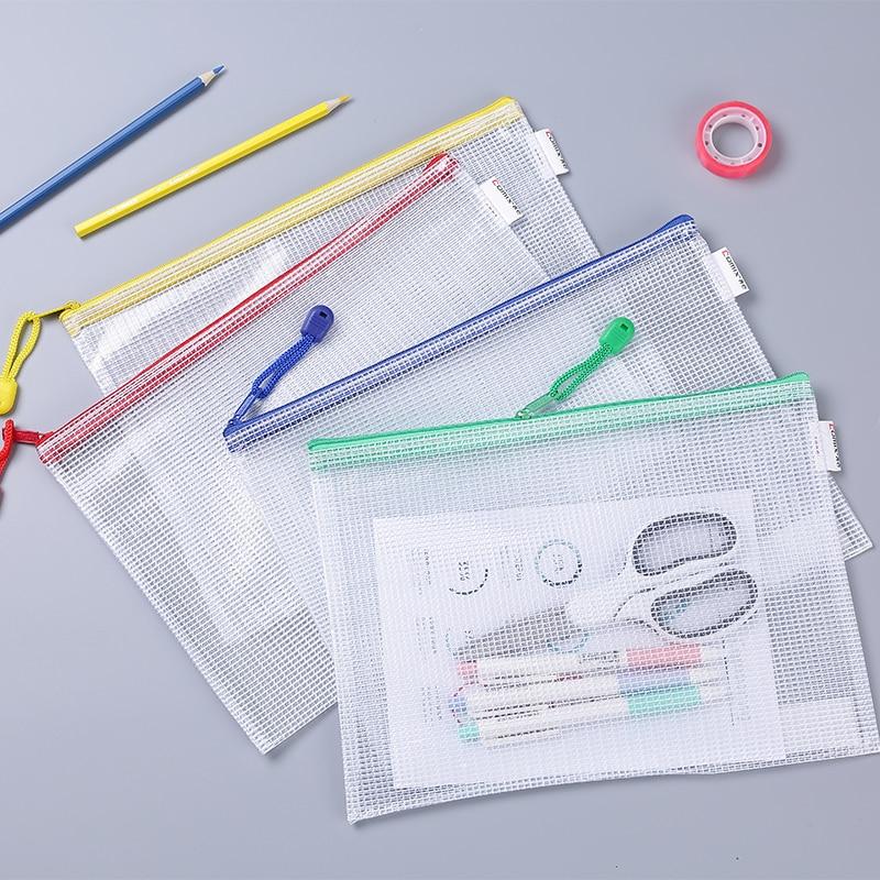 School Office Stationery Storage Bag Transparent Pvc Bag Document Bag File Folder Stationery Organize
