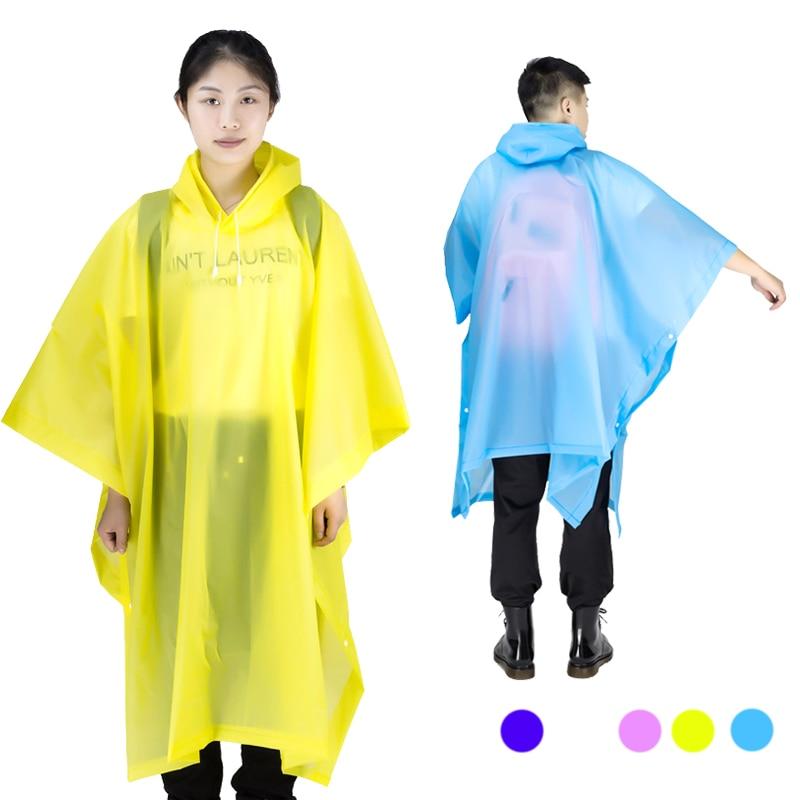 Universal Rainwear Ανδρών Διαφανές Αδιάβροχο Γυναικεία Poncho Rain Coat Κάλυψη Αδιάβροχο Κάμπινγκ Capa de chuva Feminina chubasquero