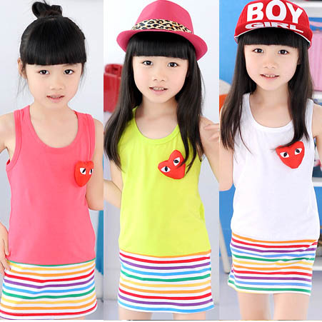 neon colors dress for kids