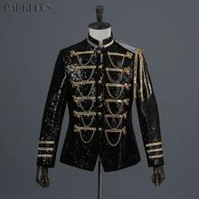 Блейзер с блестящими блестками для мужчин, мужской костюм с блейзером