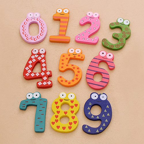 10 шт. милые деревянные магнит на холодильник номер 0-9 детская красочная развивающая игрушка набор 6NHD