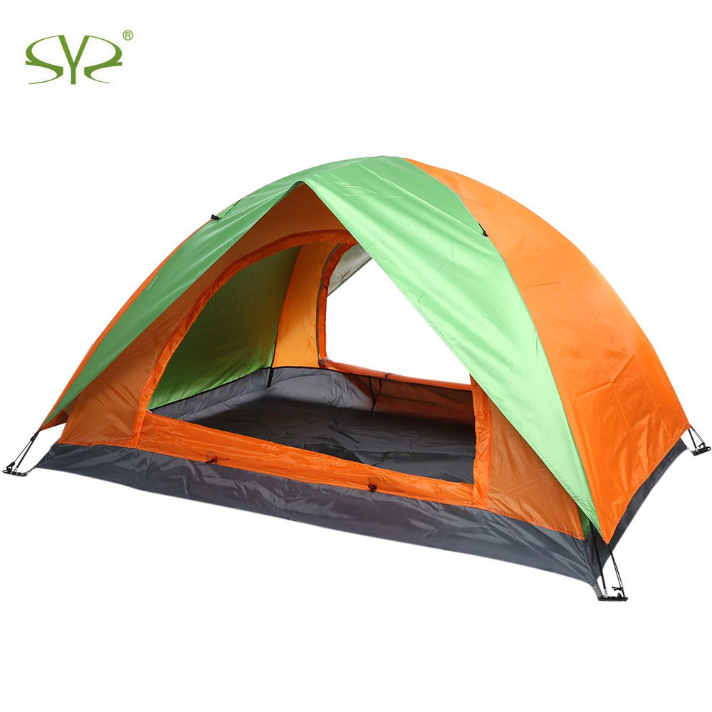 2 Persons Outdoor C&ing Tent Brand Double Layers C&ing Tent UV Protection Water Resistant Outdoor Hiking Tent Four Season-in Tents from Sports ...  sc 1 st  AliExpress.com & 2 Persons Outdoor Camping Tent Brand Double Layers Camping Tent UV ...