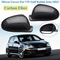 Carbon Fiber Side Wing Mirror Covers Caps for Golf Rabbit GTI R32 Standard for VW for Jetta MK5 2006 2007 2008 2009 1K0857537