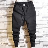 men Harem Pants brand 2019 Casual Sagging pants men Trousers low Crotch Pant Men Joggers Feet pants hanging crotch