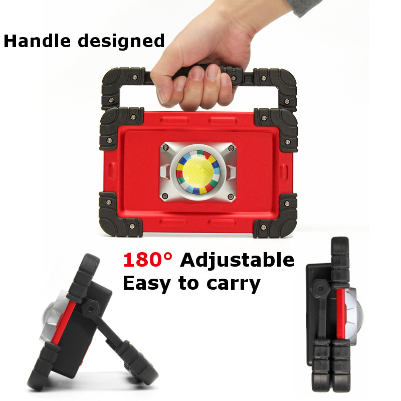 Купить с кэшбэком BRIGHTINWD Portable Camping Lights 20W LED COB Work Lamp USB Rechargeable 6000Mah Waterproof IP44 Floodlight For Outdoor Tent