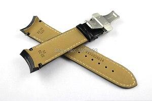 Image 4 - 22/23/24mm Für T035407A T035617A T035627A T035614 Hohe Qualität Schmetterling Schnalle + Echtes Leder curved end armband gürtel