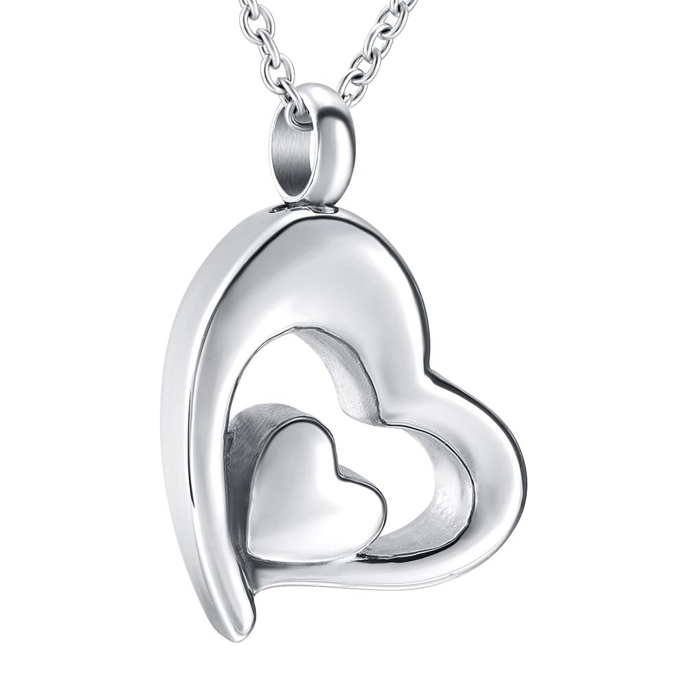 Stainless Love Heart Cremation Keepsake Memorial Ash Urn Pendant Locket Gift