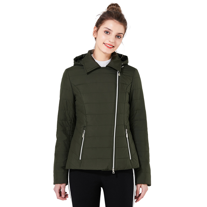ICEbear 2018 new lapel women casual jacket fashion woman coats high quality warm comfortable spring women's clothing GWC18001D icebear 2018 short women parkas cotton padded jacket new fashion women s windproof thin cotton jacket warm jacket 16g6117d