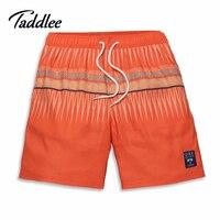 Homens marca praia shorts boxerstrunks taddlee quick dry boardshorts homem swimwear maiôs homens basculador bermudas curtas bottoms