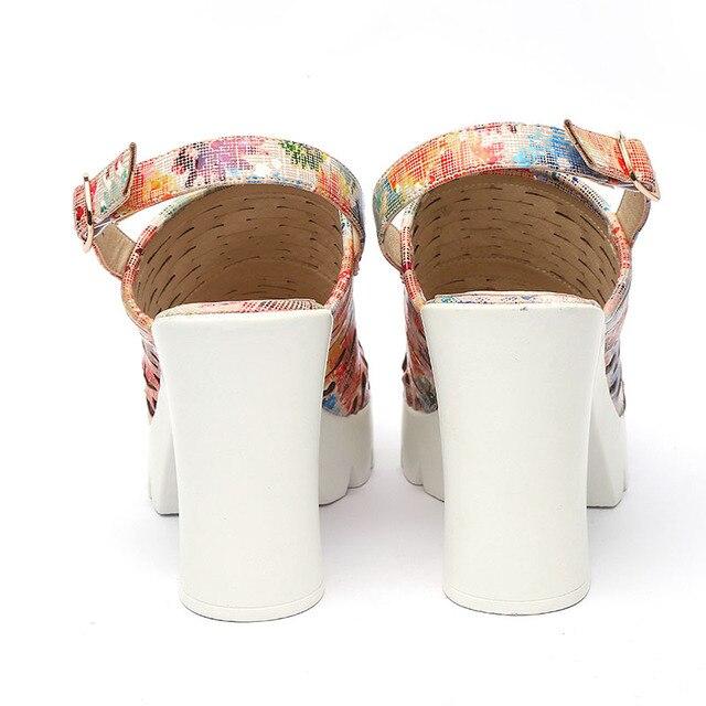 87cdf54ad11 European Women Summer Platform High Heels Sandals Peep Toe ...
