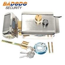 ประตูประตูล็อคความปลอดภัยไฟฟ้าล็อคโลหะประตูล็อคอิเล็กทรอนิกส์สำหรับ Video Intercom Doorbell ประตู