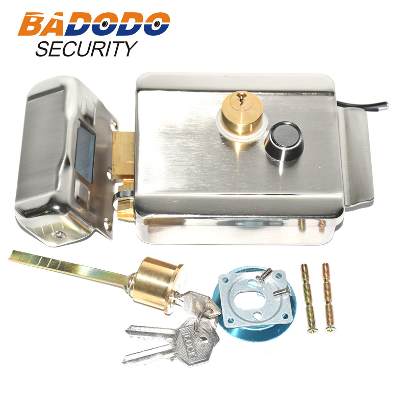Electric Gate Door Lock Secure Electric Metallic Lock Electronic Door Lock For Video Intercom Doorbell Door Access Control