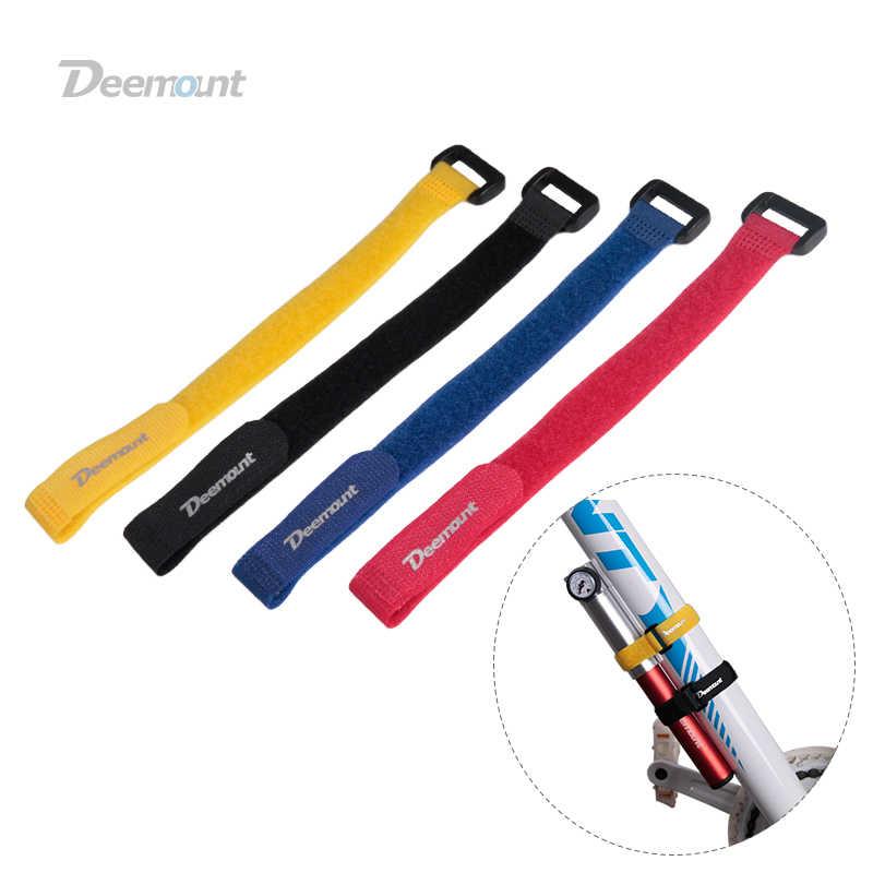 Deemount 4 шт. велосипедный нейлоновый крючок/петля самоклеящаяся лента ремешок для велосипедного кабеля резьба галстук-насос бутылка крепление для вспышки