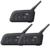 3 unids 1200 M 4 Jinetes de La Motocicleta BT Intercom Bluetooth Auriculares Casco Intercomunicador Inalámbrico con Función de FM!