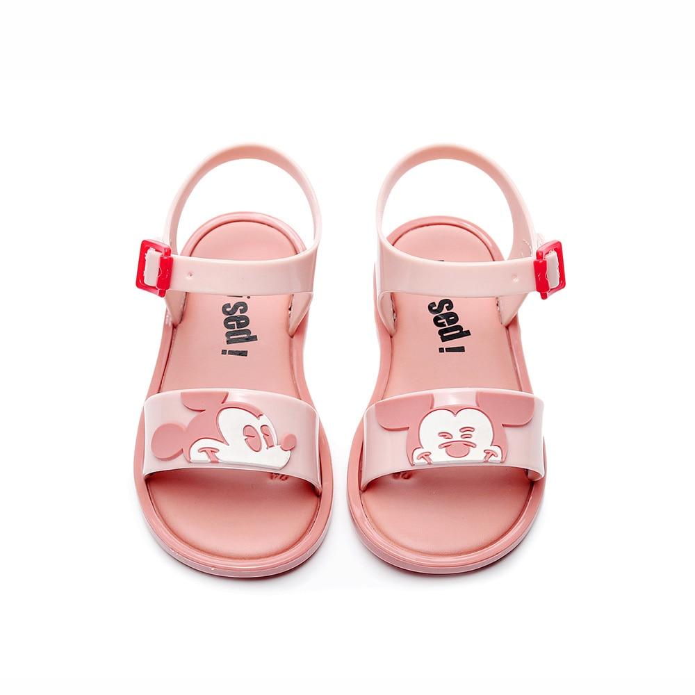 2019 New Mini Melissa  Mickey Jelly Shoes Cartoon Children's Sandals Mickey Head Girls Shoes Minnie Sandals Melissa Kids Shoes