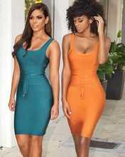 デザイナーファッションパーティードレス 送料無料セクシーな ネック包帯ドレス Vestido