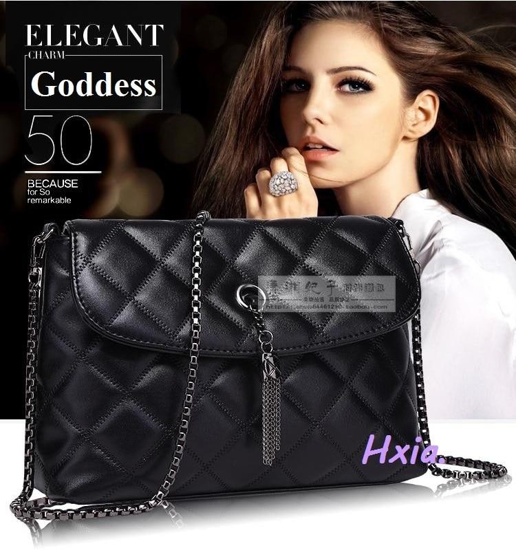 , 2016 new women handbags, leather casual shoulder bag, metal tassels woman messenger retro small square bag.