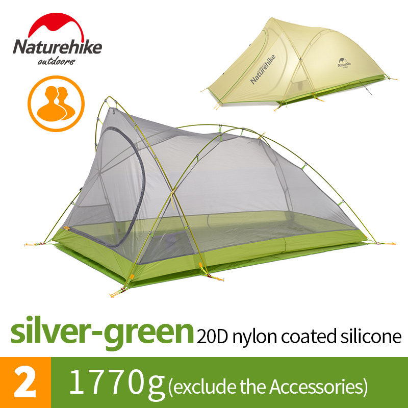 Naturehike Factory Store Cirrus 2 2 Person 3 Season Camping Tent Ultralight Large Space Camping Tent DHL free shipping 1