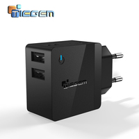 Universal Travel USB Charger Adapter Wall Portable EU US Plug Mobile Phone Smart Fast Charger For