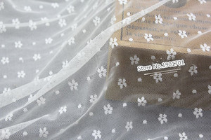 lace fabric mesh material 150cm diy dress clothing accessories Elastic Net yarn embroidery small flower curtains fabric