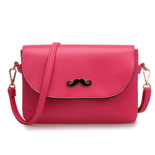 Women Messenger Bag with Funny Beard Women Bags Designer Purses and Handbags Crossbody Bags Clutch Double Layer Famous Star N273