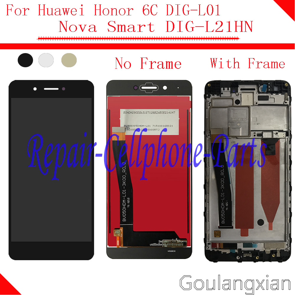 by Test Full LCD display + Touch screen Digitizer assembly with Frame For Huawei Honor 6C DIG-L01 / Nova Smart / DIG-L21HN
