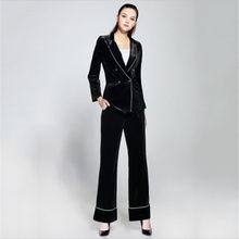 2db38e3c0300 Nuevo de mujeres trajes chaqueta con pantalones de uniforme diseños mujeres  Formal elegante pantalón trajes para la boda traje n.