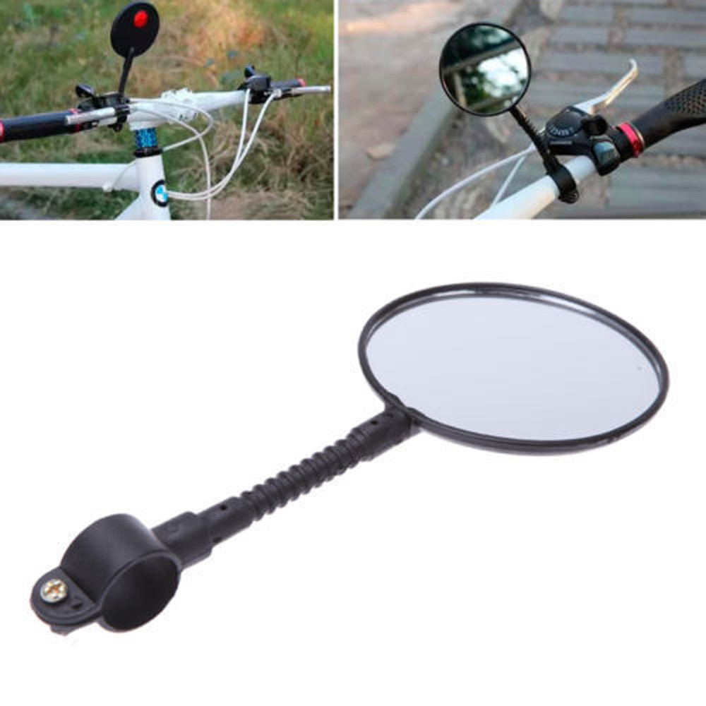 Quality Bike Bicycle Accessories Bike Bicycle Handlebar Flexible Rear Back View Rearview Mirror Black Outdoor Bike Accessories flexible bicycle helmet rearview mirror black