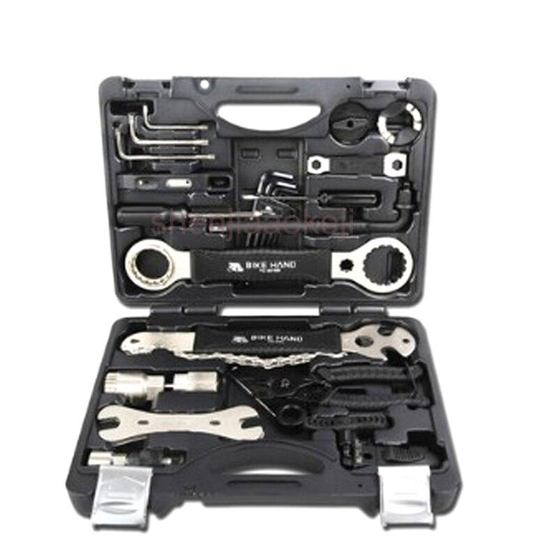Fahrrad Reparatur Werkzeug Mountainbike Professionelle Werkzeug 22 teile/satz YC 721 Kit Reparatur Speichenschlüssel Freilauf Pedal Schlüssel