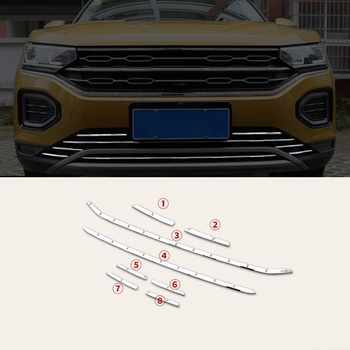 Venster Lichaam Grille Auto Chroom Verbeterde Gemodificeerde Auto Styling Accessoires Sticker Strip 18 19 VOOR Volkswagen Tayron
