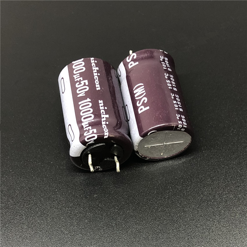 5pcs 1000uF 50V NICHICON PS Series 16x25mm Low Impedance 50V1000uF Aluminum Electrolytic Capacitor