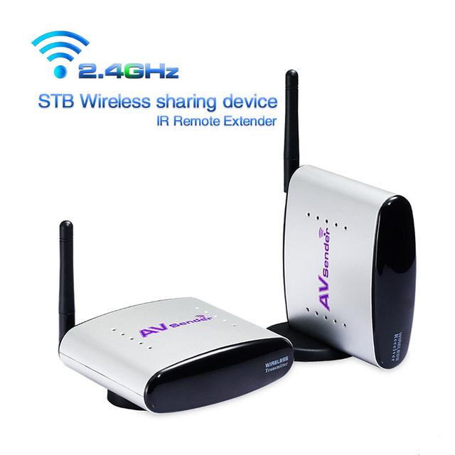 PAKITE Digital 2.4G Projeto STB Sem Fio A/V de Áudio e Vídeo Transmissor Receptor de Controle Remoto IR, de áudio e Vídeo Extensor IR PAT 220