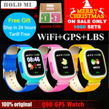 Hold Mi Q90 GPS Phone Positioning Fashion Children Watch 1 22 inch Color Touch Screen WIFI
