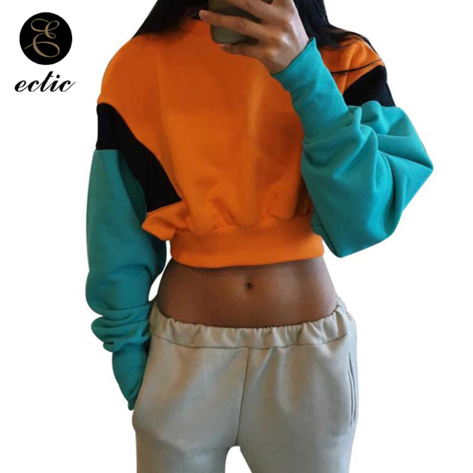 34dc1570eb0 Detail Feedback Questions about Pastel Color Block Hoodie Poleron Mujer  2019 Sweatshirt Crop Top Hoodie Women Harajuku Kawaii Stylish Hoodies Bts  Patchwork ...