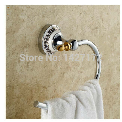 Modern New Bathroom Wall Mounted Ceramic Style Chrome Brass Towel