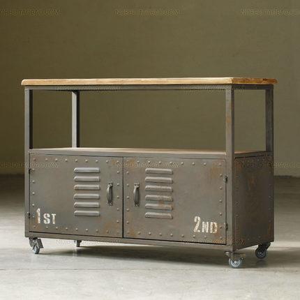 US $1536.0 |Antike schmiedeeiserne Dachboden sideboard industriellen metall  kreative Wohnzimmer tv möbel schrank Eingang kabinett Datei kabine in ...