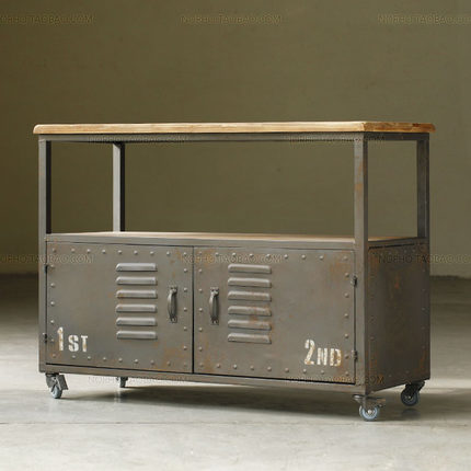 Sideboard Industrial loft antique wrought iron sideboard industrial metal creative living