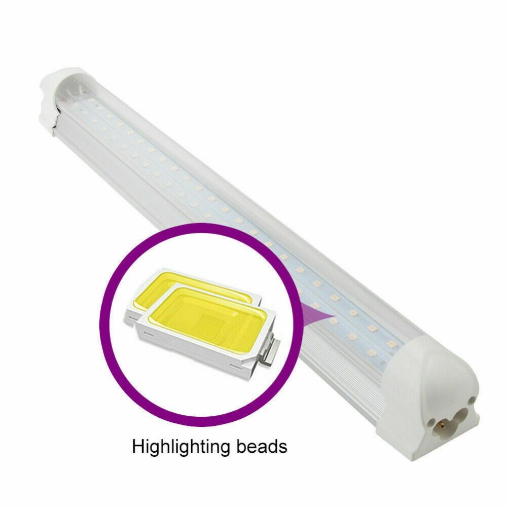 2ft 3ft 4ft LED Grow Light Full Spectrum T8 Tube Lamp Indoor Plant Greenhouse
