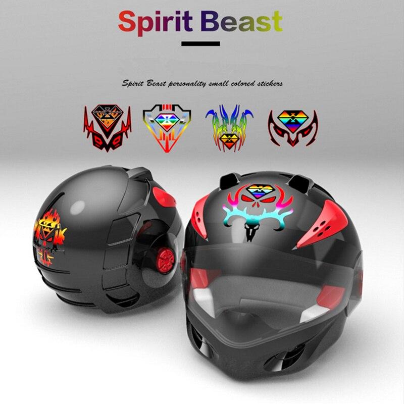 SPIRIT BEAST Motorcycle 3D Reflective Sticker Motocross Decoration Tank Pad Helmet Adesivi Stickers Decals For Honda Yamaha