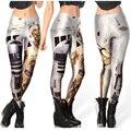New Arrival 1086 Sexy Girl robô de Star Wars R2D2 WOW Deadpool Impresso Elastic Poliéster Treino de Fitness Mulheres Leggings Pants