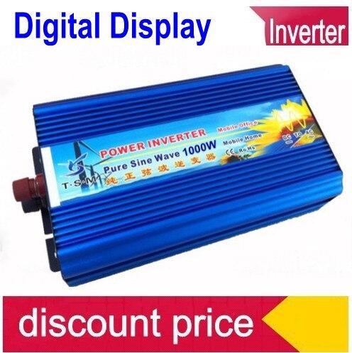 цена на Onde sinusoIdale pure onduleur solaire Peak Power 2000W Solar Inverter 1000W Pure Sine Wave Car Power Inverter DC 12V to AC 220V